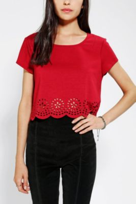Urban Outfitters Pins And Needles Lasercut Cropped Top $39.00