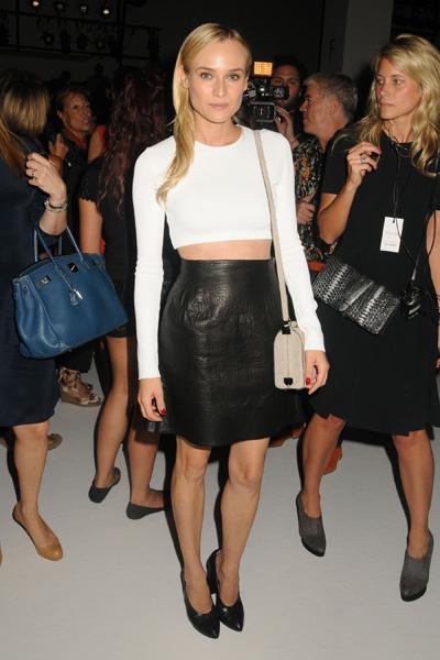 Celebrities at Calvin Klein Spring/Summer 2013 Fashion Show in NYC