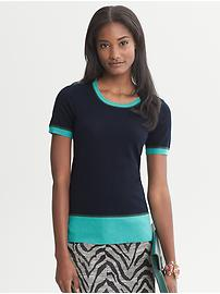 Issa Collection Colorblock Top - Navy