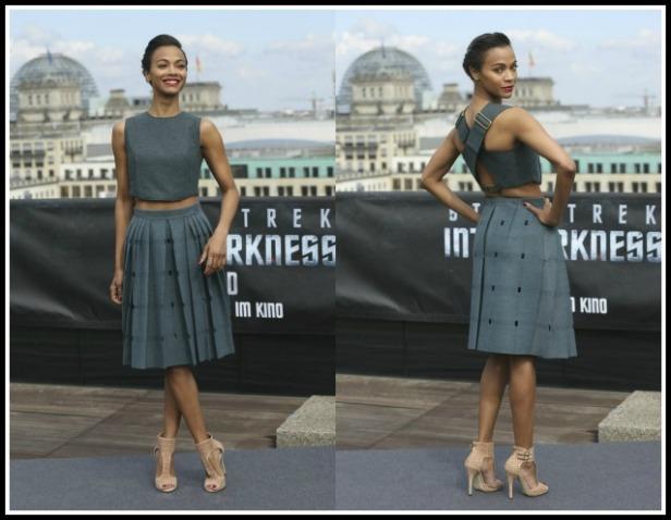 Zoe Saldana in Calvin Klein at the Star Trek Berlin premiere