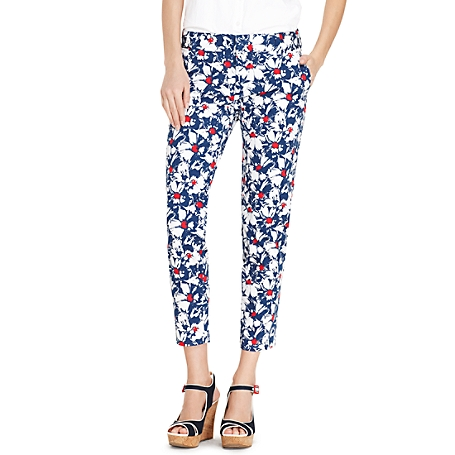 Tommy Hilfiger Floral Printed Crop Pant (perfect for next year's July 4th party!), $55