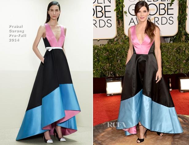 Sandra-Bullock-In-Prabal-Gurung-2014-Golden-Globe-Awards