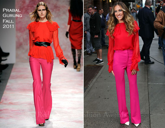 Sarah-Jessica-Parker-In-Prabal-Gurung-Late-Show-With-David-Letterman