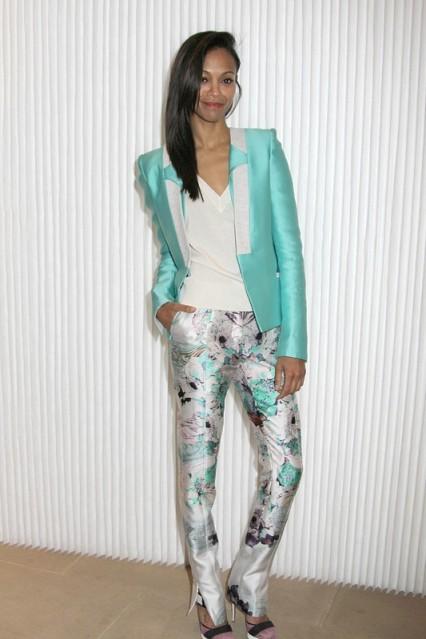 Zoe Saldana - Prabal Gurung - Prabal Gurung Fall 2012 Fashion Show