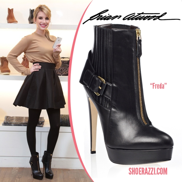 Brian-Atwood-Freda-boot-Emma-Roberts-shoes