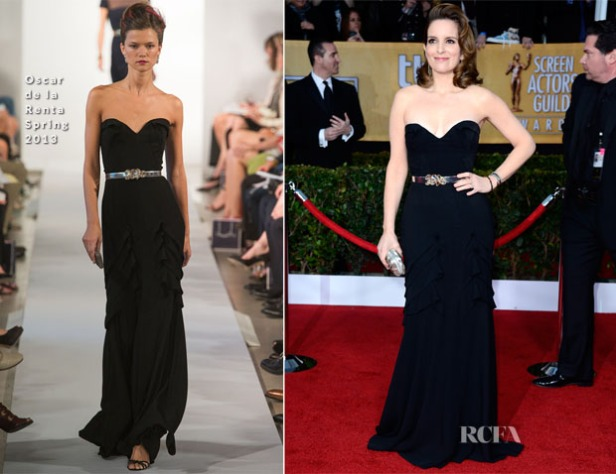 Tina-Fey-In-Oscar-de-la-Renta-2013-SAG-Awards