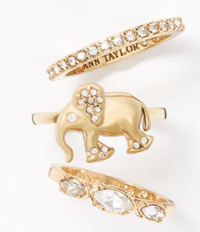 Ann-Taylor-Elephant-Ring-Set