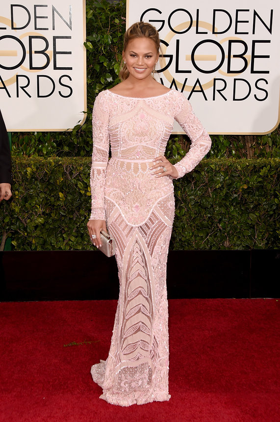 chrissy-teigen-golden-globes-2015
